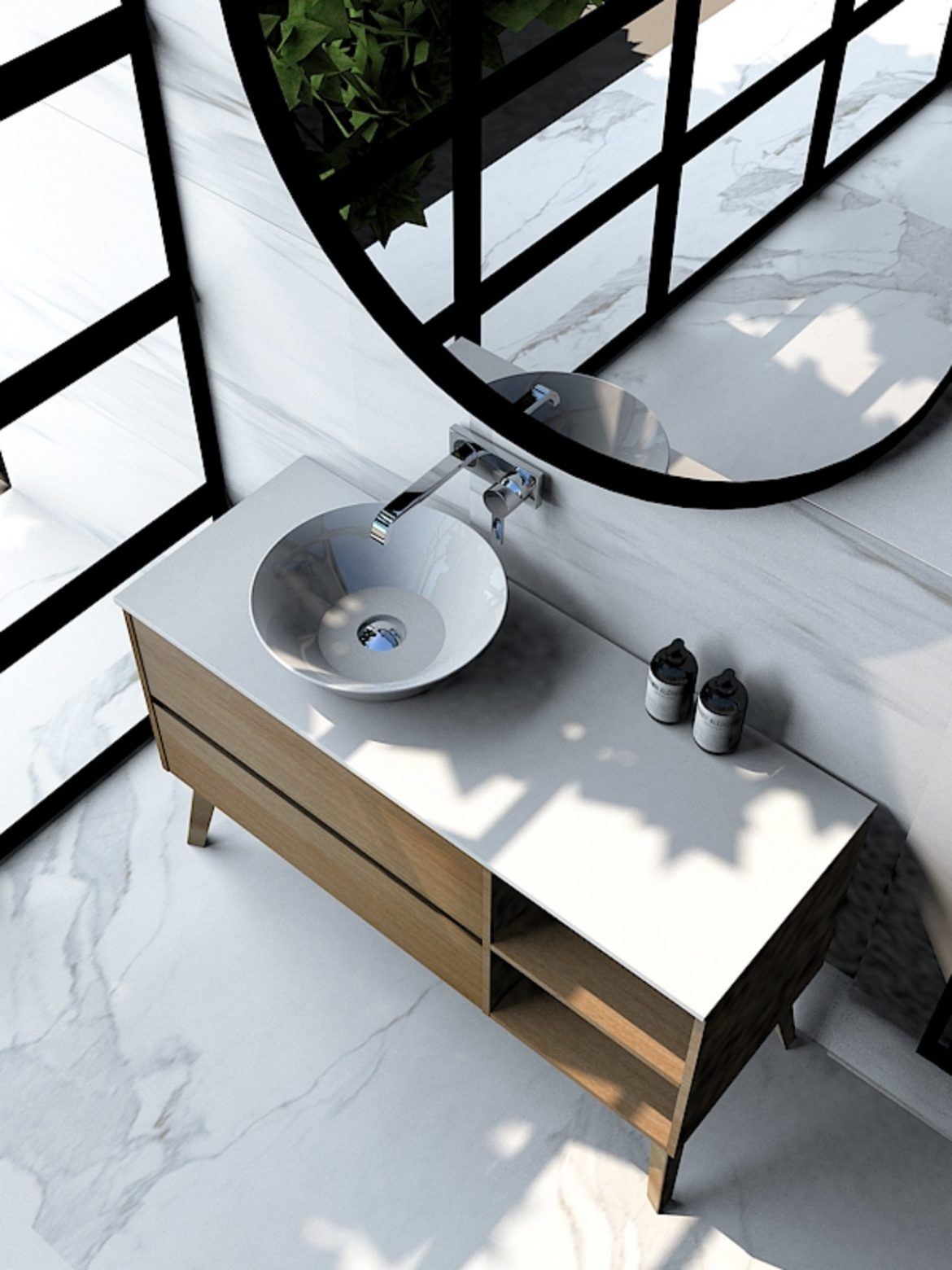 Espejos Redondos Lavabo.Espejos De Bano Que Agrandan Decoran Iluminan Codis Bath