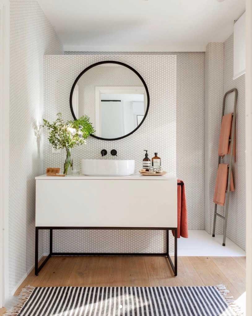 Reforma de ba o en blanco y negro codis bath - Reformas de cocinas y banos ...